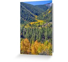 River Of Gold Greeting Card