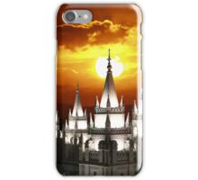 Salt Lake Temple Sunset Spires 20x30 iPhone Case/Skin