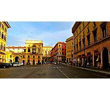 Rome at a Crosswalk Photographic Print