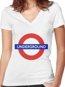 Underground Women's Fitted V-Neck T-Shirt