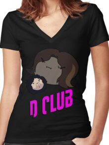 Game Grumps: D Club Women's Fitted V-Neck T-Shirt