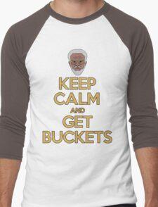 "Uncle Drew ""Keep Calm and Get Buckets"" Men's Baseball ¾ T-Shirt"