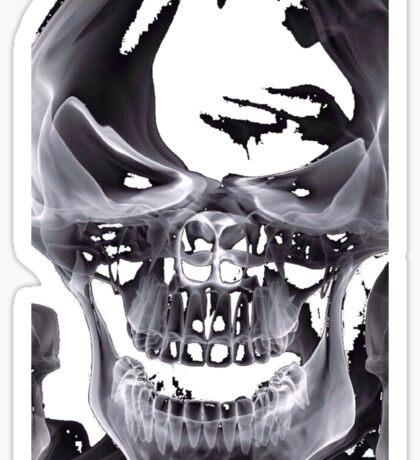 Alien Skull X-ray Sticker