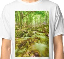 River flowing through rocks Classic T-Shirt