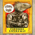 Carnival Banner - Tattoed Lizard Man by Gregory Dyer