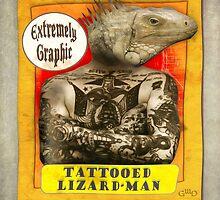 Carnival Banner - Tattoed Lizard Man by Gregory Dyer