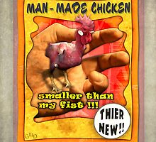Carnival Banner - Man Made Chicken by Gregory Dyer