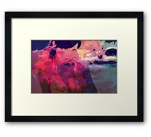 Seeing her there Framed Print