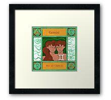 Gemini (Coloured) Framed Print