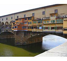 The Balconies Of The Ponte Vecchio Photographic Print