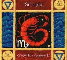 Scorpio (coloured) by Donna Huntriss