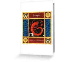 Scorpio (coloured) Greeting Card