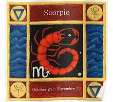 Scorpio (coloured) Poster
