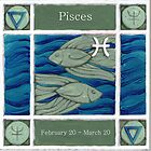 Pisces (coloured) (Ebay listed) by Donna Huntriss