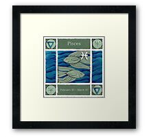 Pisces (coloured) (Ebay listed) Framed Print