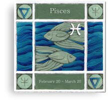 Pisces (coloured) (Ebay listed) Canvas Print