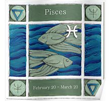 Pisces (coloured) (Ebay listed) Poster