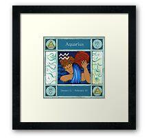 Aquarius (Coloured) Framed Print