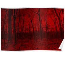Dreams Of A Red Forest Poster