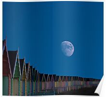 Moon Over Mersea Island Essex  Poster
