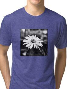 Tiny Flower in Black/White Tri-blend T-Shirt