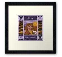 Virgo (Coloured) Framed Print