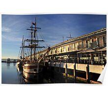 Tall ships Hobart Poster