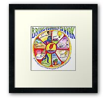 Bring Yourself to Work Wheel Framed Print