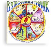 Bring Yourself to Work Wheel Canvas Print