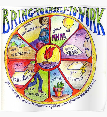 Bring Yourself to Work Wheel Poster