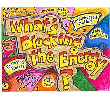 What's Blocking the Energy? Poster Photographic Print
