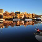 Hobart Harbour sunrise by Bryan Cossart