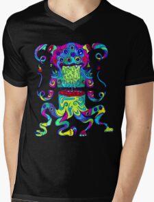 Sliced Monster Mens V-Neck T-Shirt