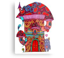 Mushroom House III Metal Print