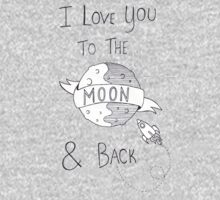 To The Moon And Back - Black & White Kids Tee