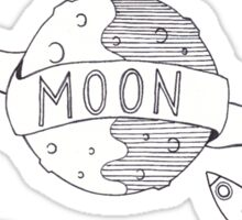 To The Moon And Back - Black & White Sticker