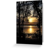 Golden Silhouette Greeting Card