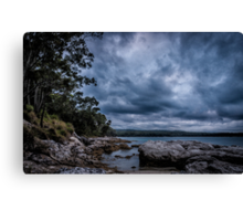 Dolphins had put on a show here and this is the stage Canvas Print