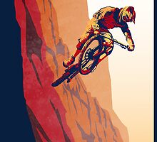retro style mountain bike poster: Good to the Last Drop by SFDesignstudio