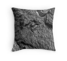 Tough Bull (BW) Throw Pillow