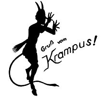 Krampus 24 Black Photographic Print