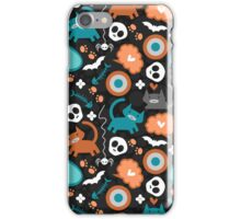 Funny Halloween pattern with kittens iPhone Case/Skin