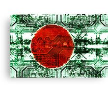 circuit board bangladesh (flag) Canvas Print
