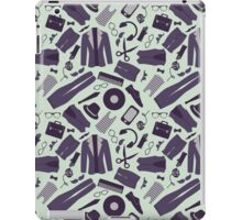 Pattern with various stylish hipster clothes and accessories iPad Case/Skin