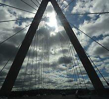 Kansas City Bridge and Clouds by Tania Rose Marg