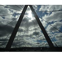 Kansas City Bridge and Clouds Photographic Print