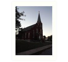 Church at Kaskaskia Bell State Historic Site, Kaskaskia IL Art Print