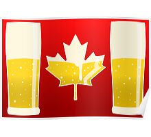 Canada Flag Beer Poster