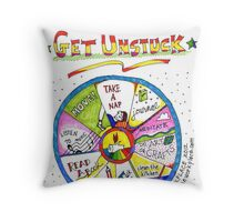 Ten Ways to Get Unstuck Throw Pillow