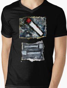 Grey matchsticks Mens V-Neck T-Shirt
